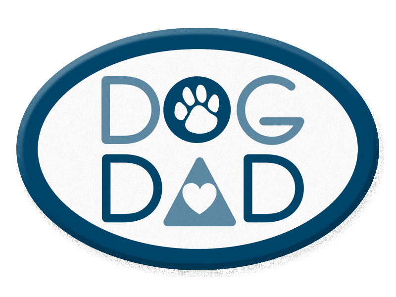Oval Dog Dad Acrylic Magnet