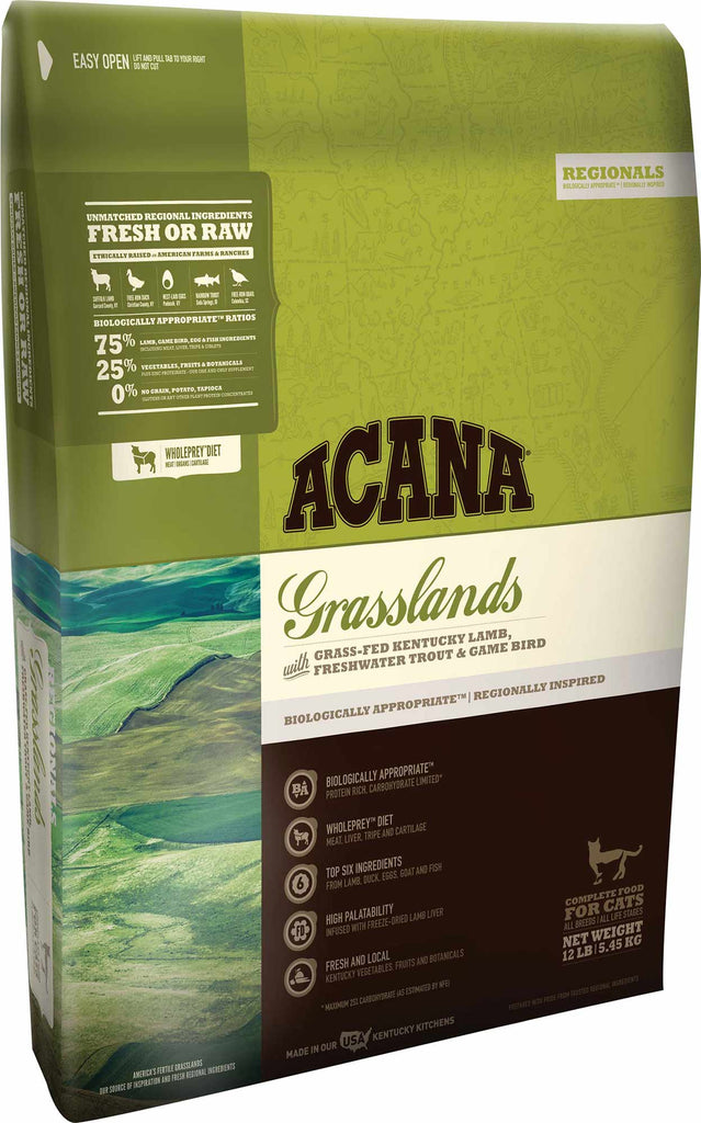 Acana Grasslands Cat Food - Rocky & Maggie's Pet Boutique and Salon