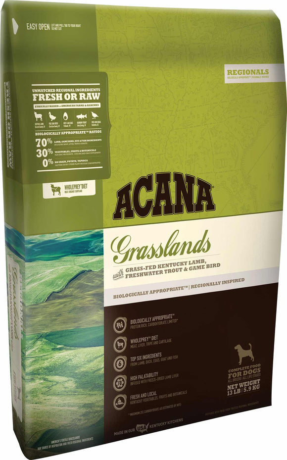 Acana Grasslands Dog Food - Rocky & Maggie's Pet Boutique and Salon