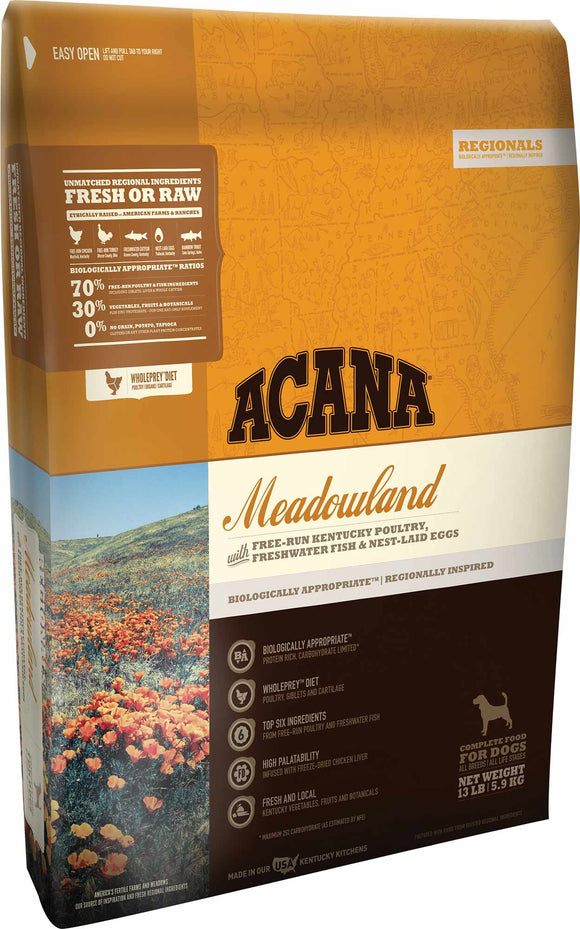 Acana Meadowland Dog Food - Rocky & Maggie's Pet Boutique and Salon