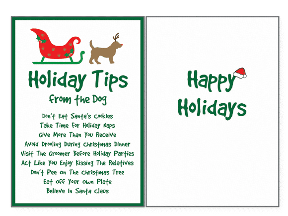 Holiday Tips from the Dog Greeting Card