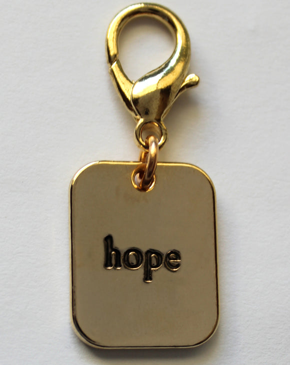 Hope Gold Collar Charm