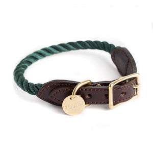 ROPE & LEATHER CAT & DOG COLLAR - Rocky & Maggie's Pet Boutique and Salon