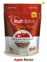 Skinny Minis Apple Bacon Soft & Chewy Dog treats - Trainers, 12oz