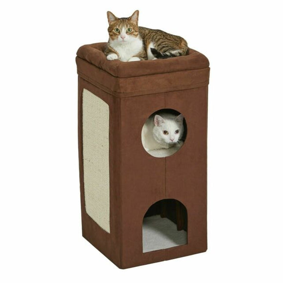 Midwest Cat Condo Brown Suede