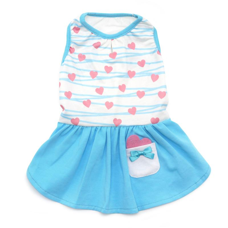 Blue Sweet Heart Dress - Rocky & Maggie's Pet Boutique and Salon