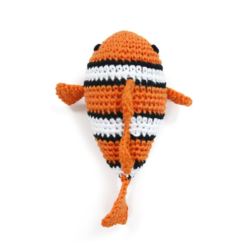 Clown Fish Knit Toy - Rocky & Maggie's Pet Boutique and Salon