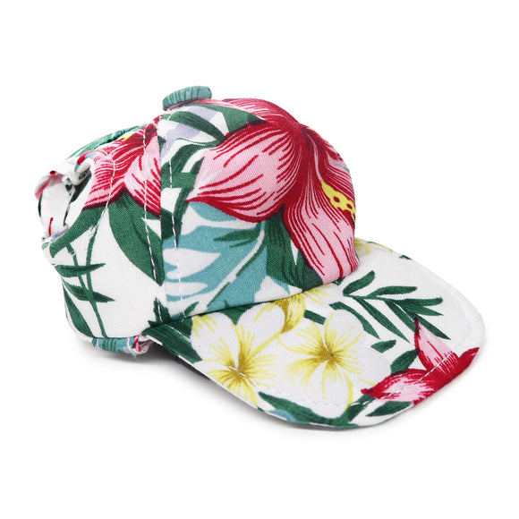 Tropical Island Hat White