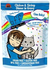 Ciao Baby! Chicken and Shrimp Dinner for Cats, 2.8 oz - Rocky & Maggie's Pet Boutique and Salon