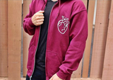 Hearts Not Parts zip up hoodie