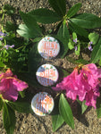 Floral Pronoun button or magnet