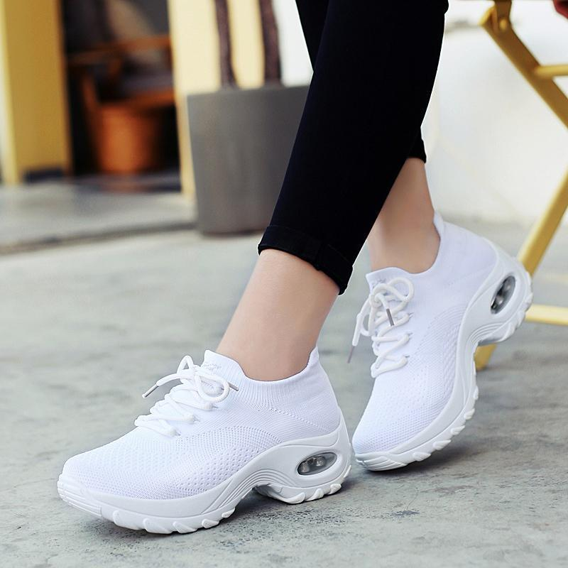 Women's Flying Woven Breathable Comfortable Sneakers