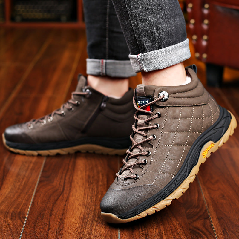 Winter Velvet Zipper Warm Shoes