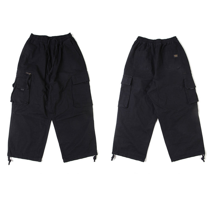 Japanese Loose Drawstring Overalls
