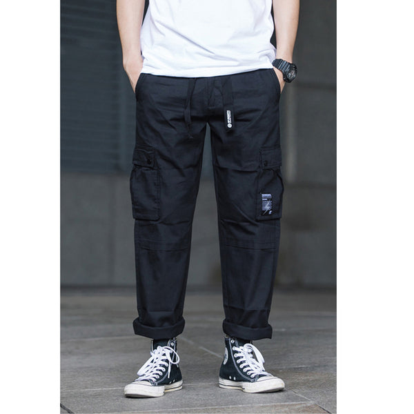 Japanese Multi-Pocket Drawstring Overalls