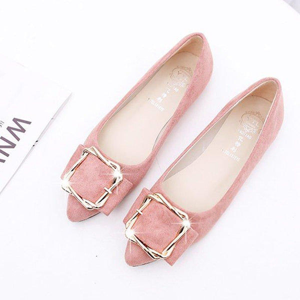 Daily Suede Pointed Toe Elegant Flats