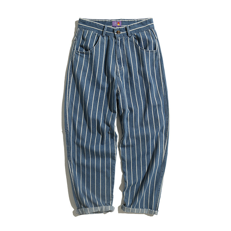 Japanese Retro Washed Jeans