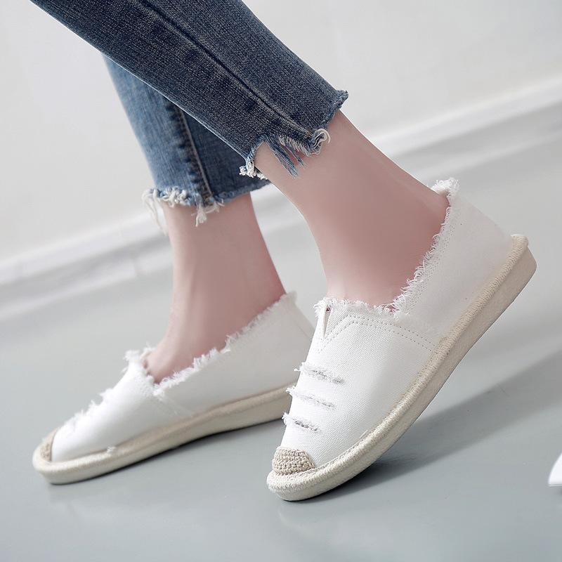 Women Flats Shoes Slip On Casual Ladies Canvas Shoes