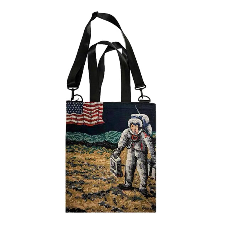 Astronaut On The Moon Expedition Crossbody Backpack