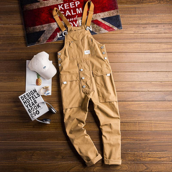Retro Casual Multi-Pocket Jumpsuits