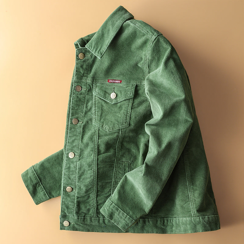 Japanese Retro Corduroy Jacket