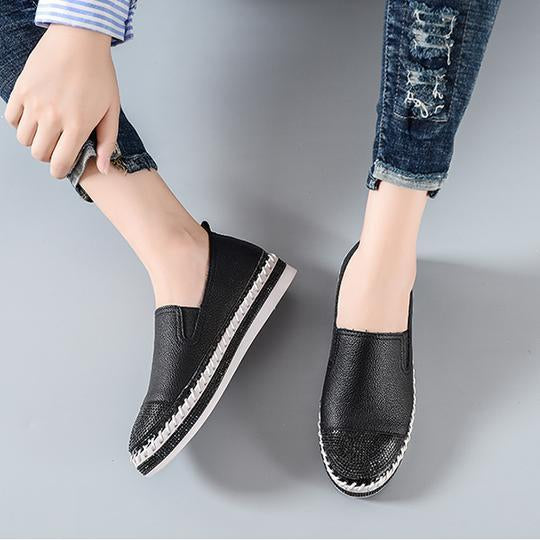 Women Leather Creepers Flats