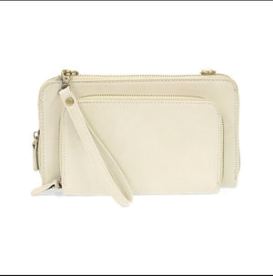 Brushed mini convertible zip around wristlet Joy Susan