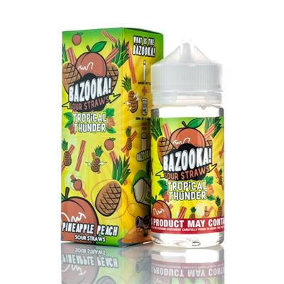 BAZOOKA SOUR STRAWS - PINEAPPLE PEACH TROPIC THUNDER 50ML