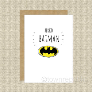 Greetings Card - Berko Batman