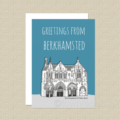 Greetings Card - Greeting from Berkhamsted