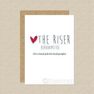 Greetings Card - LOVE The Riser