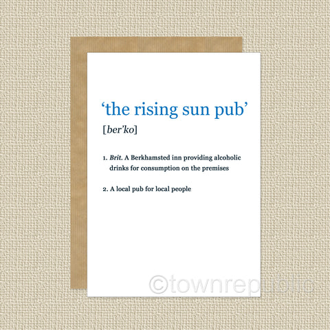 Greetings Card - Riser Dictionary Entry