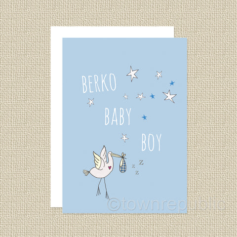 Greetings Card - Berko Baby Boy