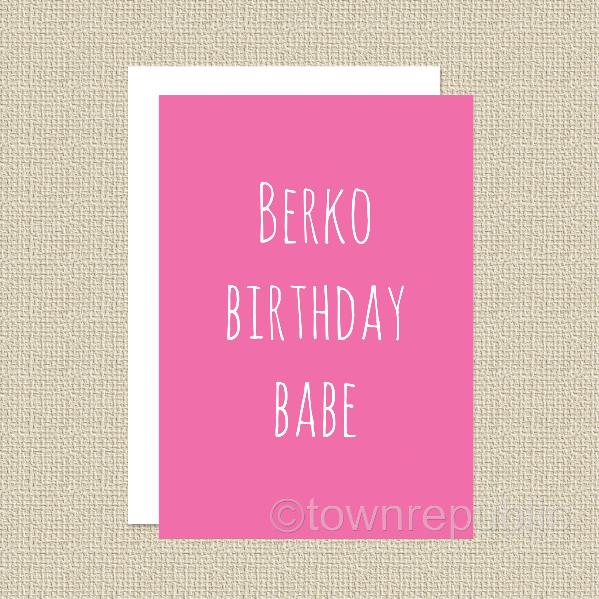 Greetings Card - Berko Birthday Babe