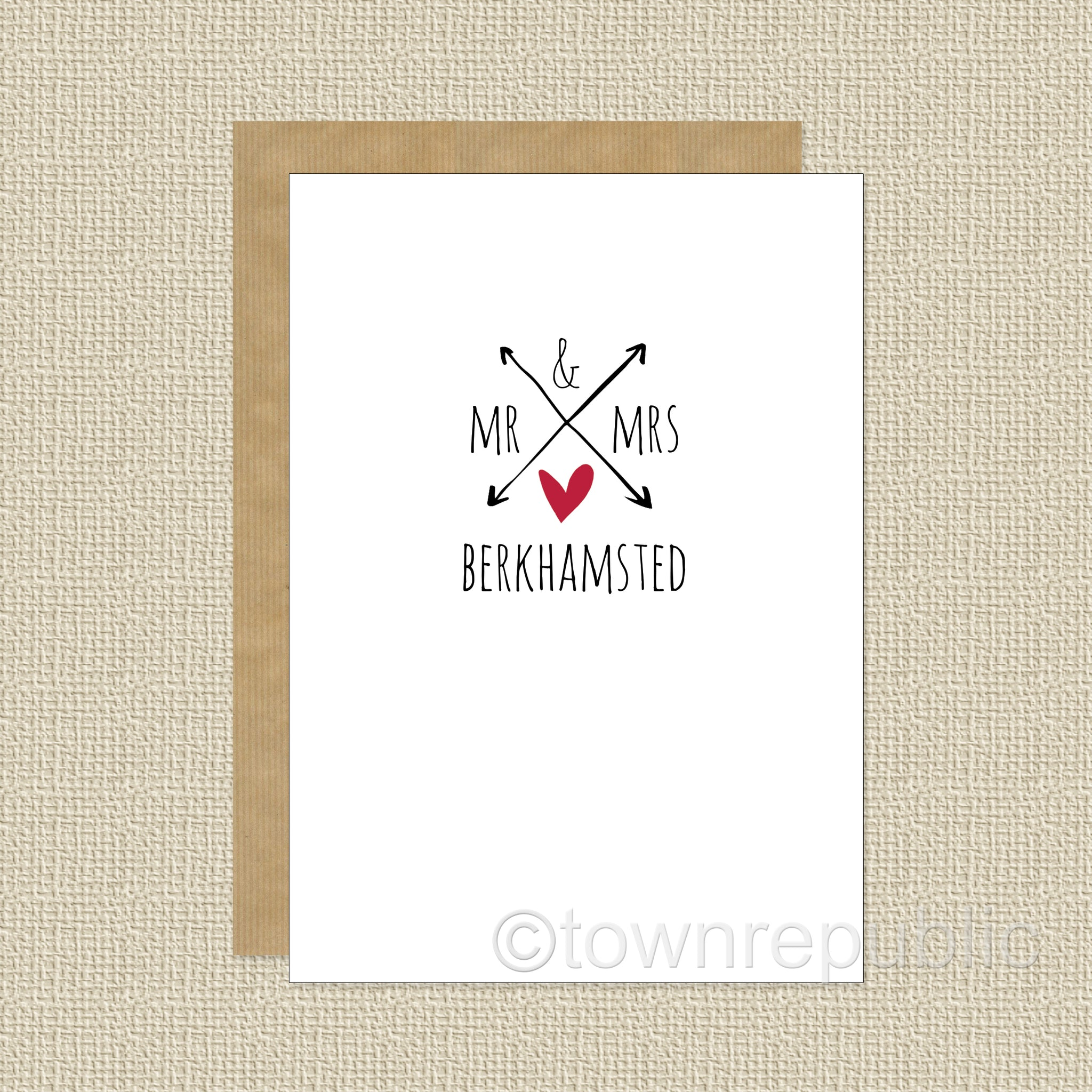 Greetings Card - Mr & Mrs Berkhamsted