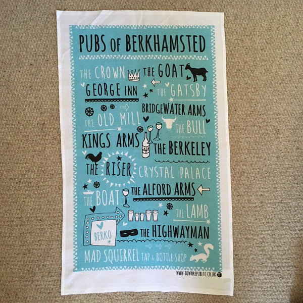 Tea Towel - Pubs of Berkhmasted
