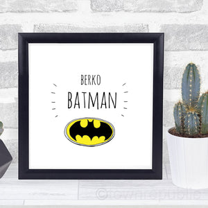 Berko Batman Framed Mini Print