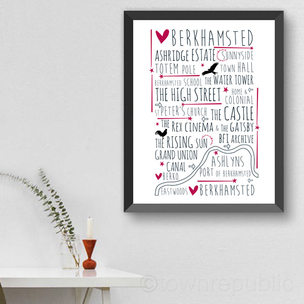 Berkhamsted Places of Interest Art Print