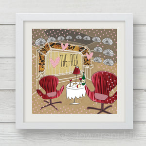 The Rex Candlelit Tables Art Print