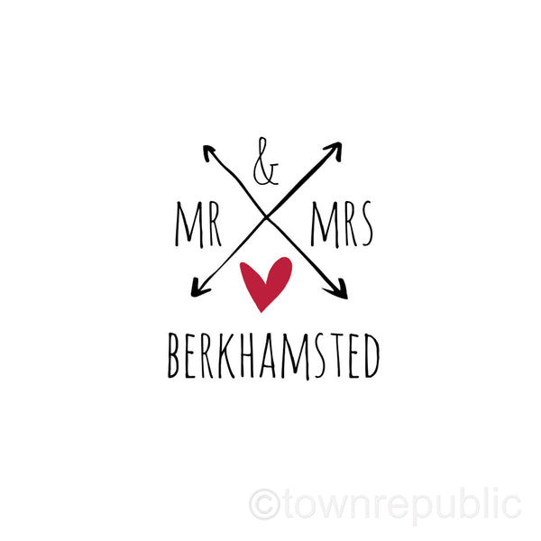Mr & Mrs Berkhamsted Framed Mini Print