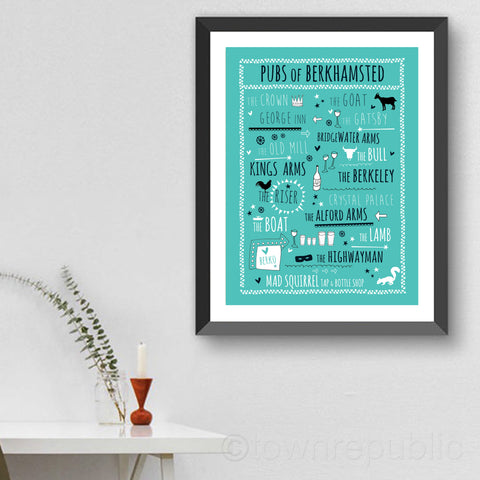 Pubs of Berkhamsted Art Print