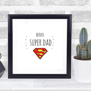 Berko Super Dad Framed Mini Print
