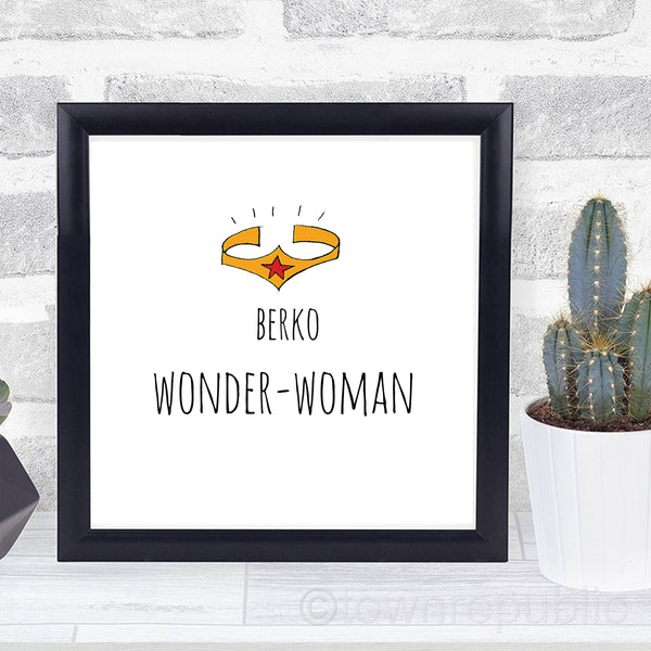 Berko WONDER-Woman Framed Mini Print