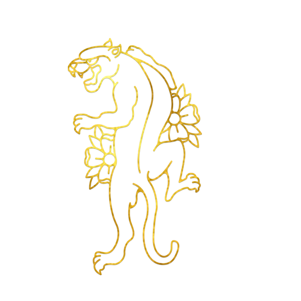 Panther Gold Foil Decal