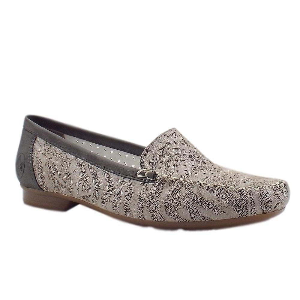 Rieker 40086-42 Yasmin Smart Casual Loafers In Grey