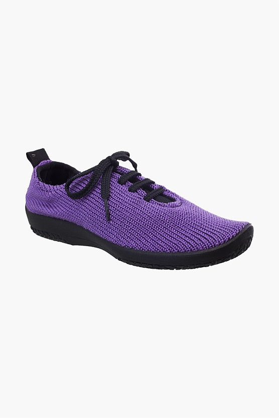 Arcopedico LS knitted lace up Plum