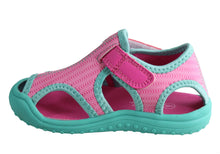 Load image into Gallery viewer, Grosby Cage G Pink/turquoise Children's Sandal