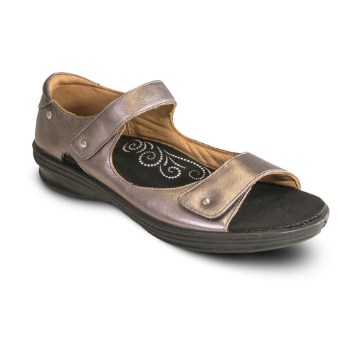 Revere Madrid Closed Heel Sandal - Gunmetal