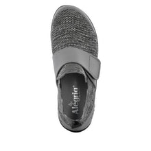 Load image into Gallery viewer, Alegria Qwik Charcoal Velcro strap shoe QWI-5018