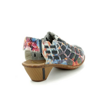 Load image into Gallery viewer, Rieker 46778-91 Sina Floral Womens Comfort Slip On Shoes